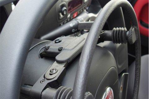 gasring op het stuur
