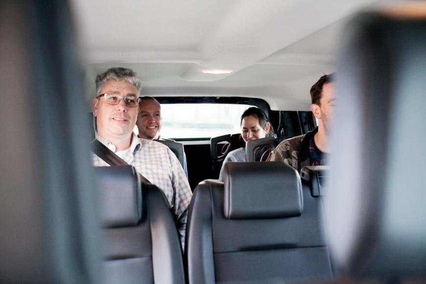 Configuration de siège pour un véhicule TPMR