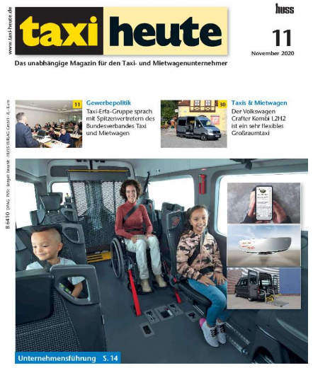 Taxi Heute nr. 11 over Tripod Mobilities Opel Zafira Life